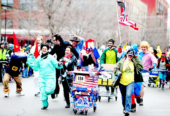 Catch creative costumes and carts at Chiditarod XIII on 3/3. - COURTESY OF CHIDITAROD