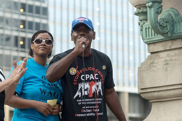 Tyrone Williams was one of two men ordered held without bail by Judge Vincent Gaughan at a hearing for Jason Van Dyke last week. - CHICAGO ALLIANCE AGAINST RACIST AND POLITICAL REPRESSION