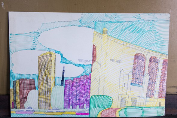 A close-up of the downtown/Rockefeller diptych - JAMIE RAMSAY