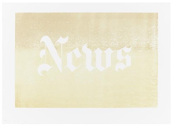 "News (1970), by Ed Ruscha, is one of many pieces on display at ""Endless Summer"" at the MCA. - NATHAN KEAY"