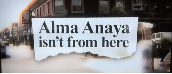 Alma Anaya faced anti-immigrant ads like this one during the campaign
