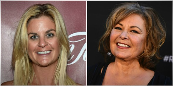 Liz Crokin and Roseanne Barr