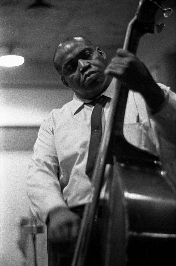 Willie Dixon performing at a recording session at Delmark Records on June 26, 1968 - CHICAGO HISTORY MUSEUM