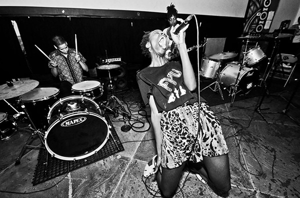 Los Angeles punks Fuck U Pay Us perform at last year's Black and Brown Punk Show Festival. - MARTIN SORRONDEGUY