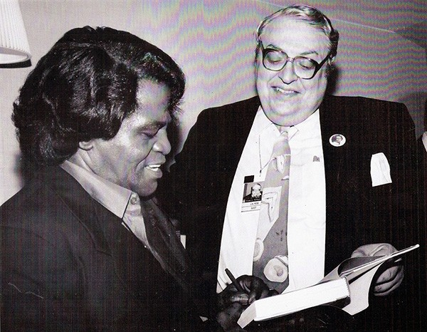 James Brown with Jay B. Ross - PHOTO PROVIDED BY OLIVER TORRES