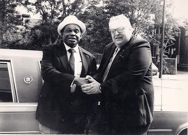 Willie Dixon with Jay B. Ross - PHOTO PROVIDED BY OLIVER TORRES