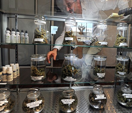 Marijuana dispensaries like this one are getting hit with red tape by the Trump administration. - GABRIEL BOUYS