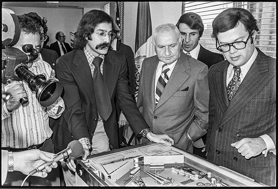 Roger Sharpe proved pinball was a game of skill to the New York City Council in 1976. - JAMES HAMILTON