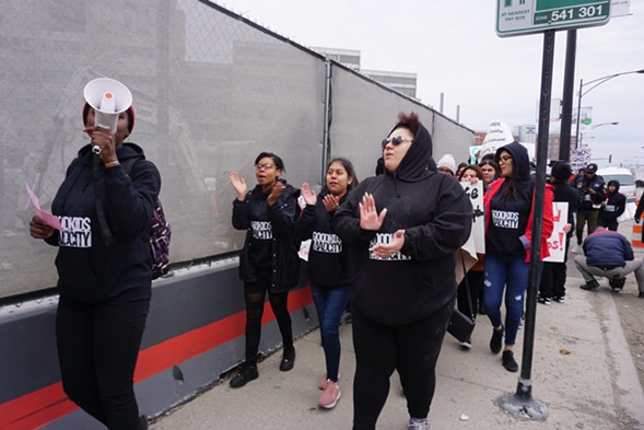 Students march against gun violence during the March for Our Lives campaign earlier this year. - ASHLEY MIZUO