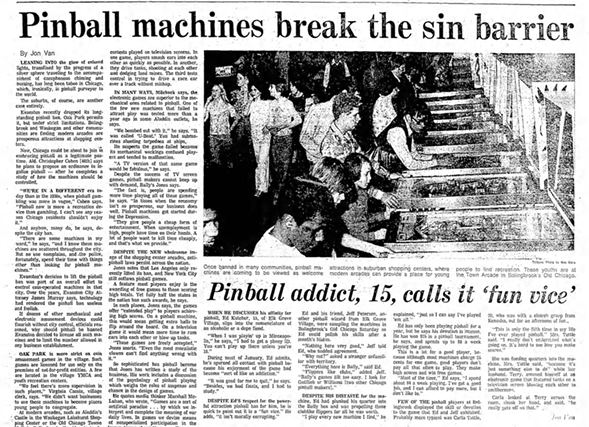 A 1976 Tribune feature on pinball - CHICAGO TRIBUNE