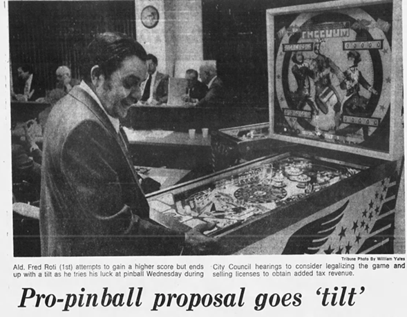 Pinball might have been legalized in 1976 if not for Alderman Ed Burke and a few other city councilmen. - CHICAGO TRIBUNE