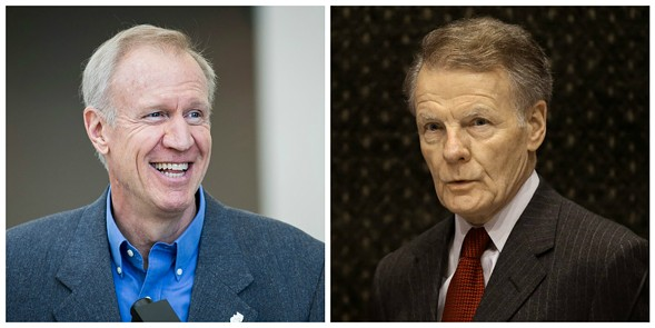 Rauner and Madigan - SUN-TIMES/AP