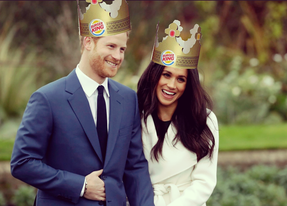 Prince Harry and his betrothed, Meghan Markle, have inspired a special at Burger King. - AP PHOTO/ILLUSTRATION RYAN SMITH