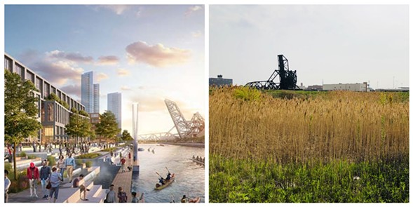 A rendering of the 78 side by side with current Rezkoville - RELATED MIDWEST/RYAN SMITH