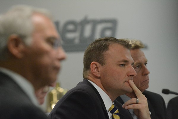A Metra board meeting in 2014 - SUN-TIMES