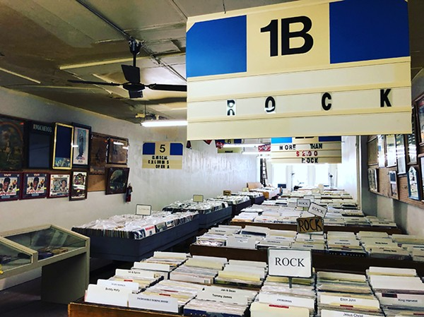 There are an estimated 25,000 to 30,000 vinyl records on the second floor of Recycled Records. - RYAN SMITH