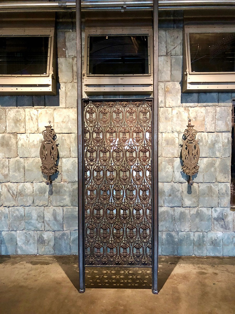 Elevator grille and balusters from Sullivan's Guaranty Building in Buffalo, New York - COURTESY OF CITY MUSEUM