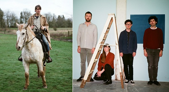 Stephen Malkmus (left) and Lithics - PHOTOS BY GIOVANNI DUCA (MALKMUS) AND CHRISTIE MACLEAN
