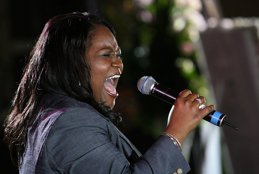 Shemekia Copeland performs at FitzGerald's on Thursday night. - ERIC Y. EXIT