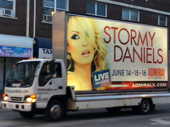 Ads for Stormy Daniels's show could be seen around the city. - RYAN SMITH