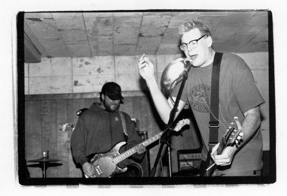 Brian Peterson (left) and Pat Kenneally during a My Lai set at the Fireside Bowl - REBECCA ANN RAKSTAD