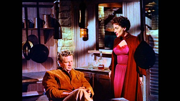 Sterling Hayden and Joan Crawford in Johnny Guitar