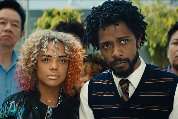 Tessa Thompson and Lakeith Stanfield, the stars of  Sorry to Bother You - ANNAPURNA