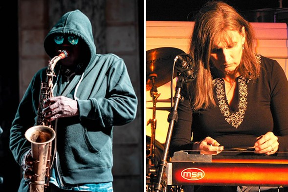 Joe McPhee and Susan Alcorn - PHOTOS BY PETER GANNUSHKIN / DOWNTOWNMUSIC.NET AND ANDY NEWCOMBE