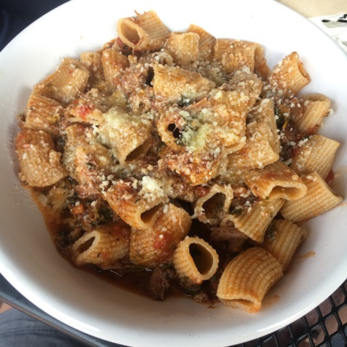 Rigatoni with pork bolognese, Raduno, Traverse City, MI - MIKE SULA