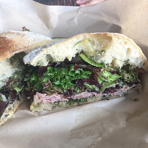 Porchetta sandwich, Raduno, Traverse City, MI - MIKE SULA