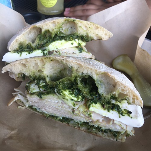 Smoked turkey sandwich, Raduno, Traverse City, MI - MIKE SULA