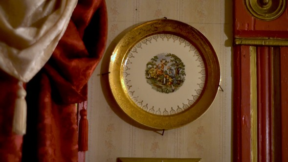 An antique plate from Yolanda Anderson's pink house in Austin - VAM STUDIOS