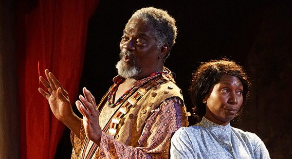 In The African Company Presents Richard III, black performers wear, and then drop, the mask