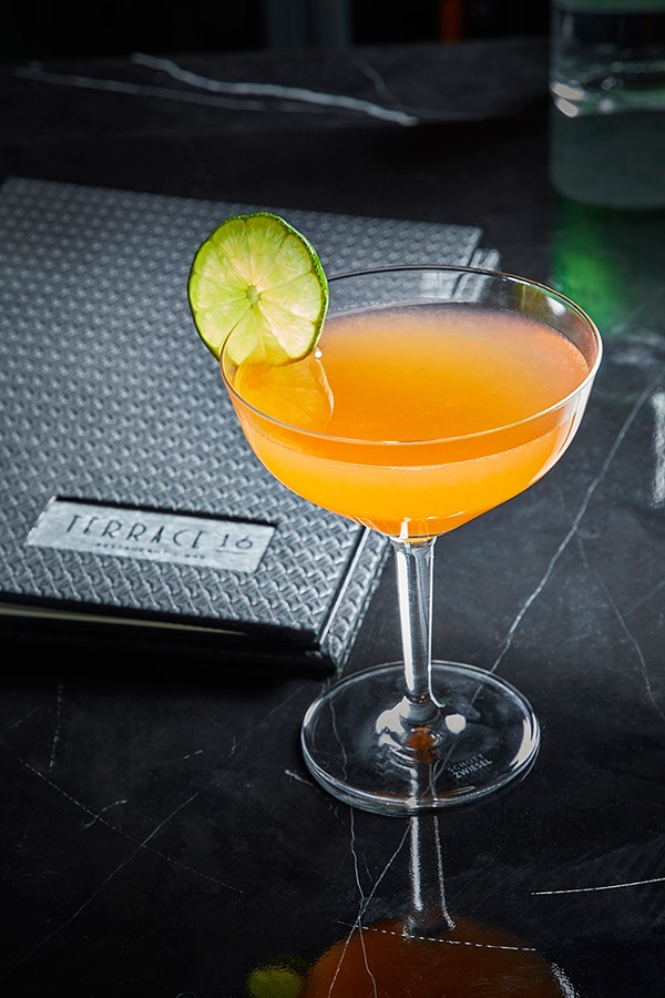 """""""Orange"""" the cocktail, with rum and carrot, orange, and ginger juices - NEIL BURGER"""