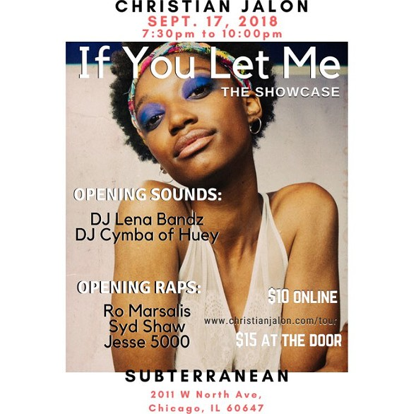 Christian JaLon celebrates her new EP next month—and performs this Thursday as part of the Chicago Jazz Festival. - COURTESY THE ARTIST