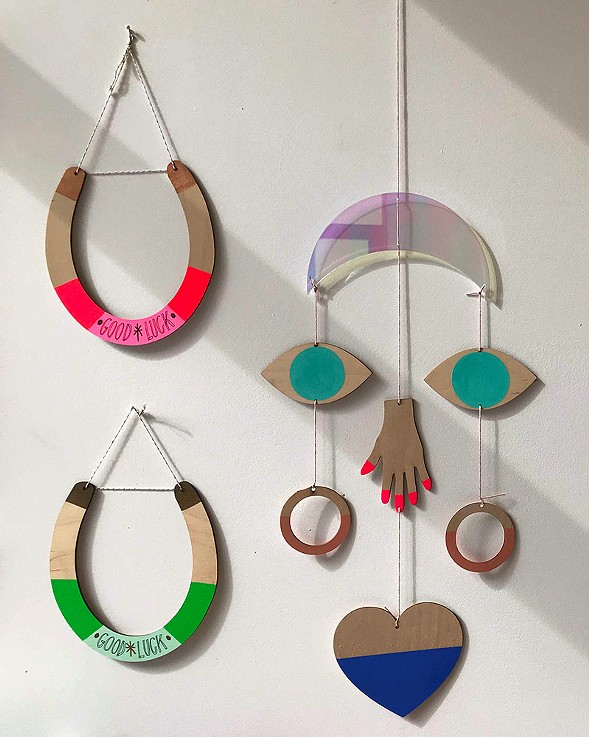 Wooden wall decor by Brooklyn-based the Great Lakes Goods - ISA GIALLORENZO