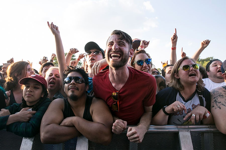 The crowd for the Lawrence Arms on day two of last year's Riot Fest - ASHLEE REZIN/CHICAGO SUN-TIMES