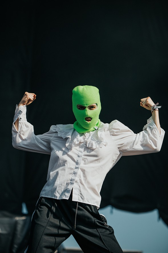 An anonymous member of Pussy Riot - DANNY O'DONNELL