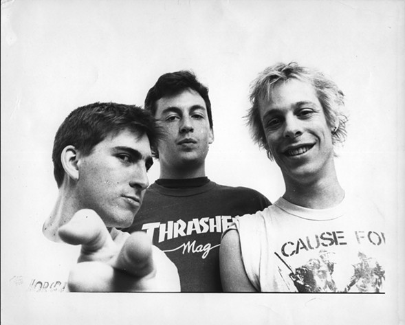 Life Sentence back in the day, left to right: bassist Joe Losurdo, drummer Tom O'Connor, and guitarist Eric Brockman - GENE AMBO
