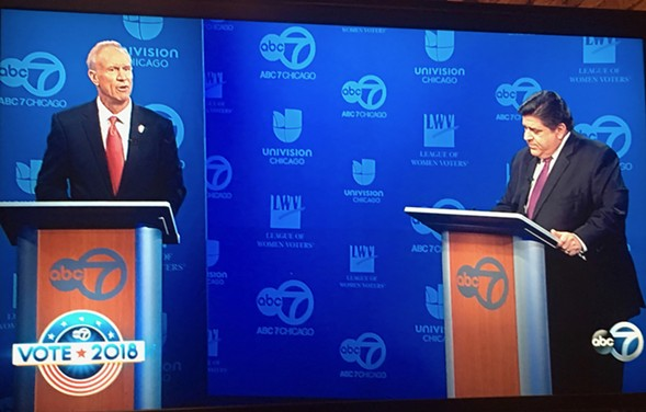 Governor Bruce Rauner and Democratic opponent J.B. Pritzker - WLS-TV CHANNEL 7