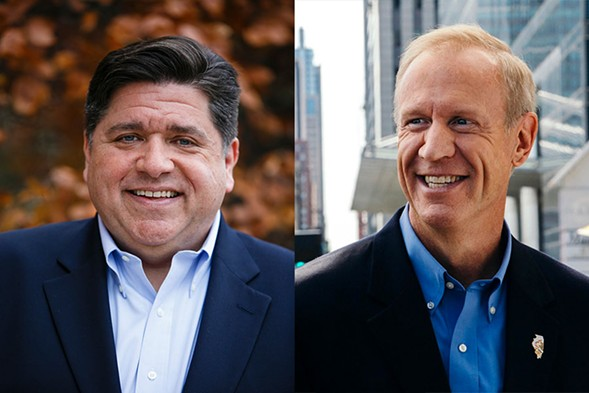 In the battle of the billionaires, Pritzker (left) will prevail