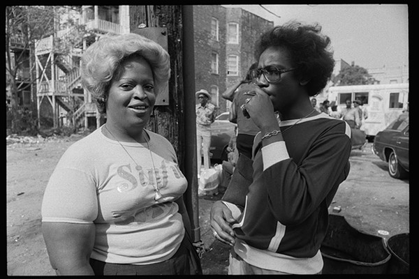 """From a collection of images taken in July 1977 entitled """"Jazz Alley, 50th and  Langley, Chicago, Illinois."""" - JONAS DOVYDENAS, LIBRARY OF CONGRESS"""