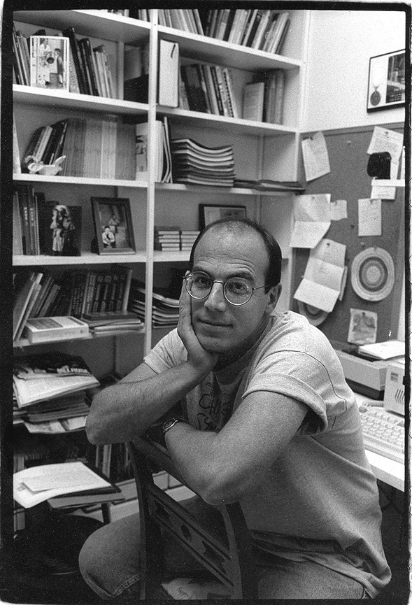 Tony Adler in his office at the old Reader building at 11 E. Illinois. - KATHY RICHLAND