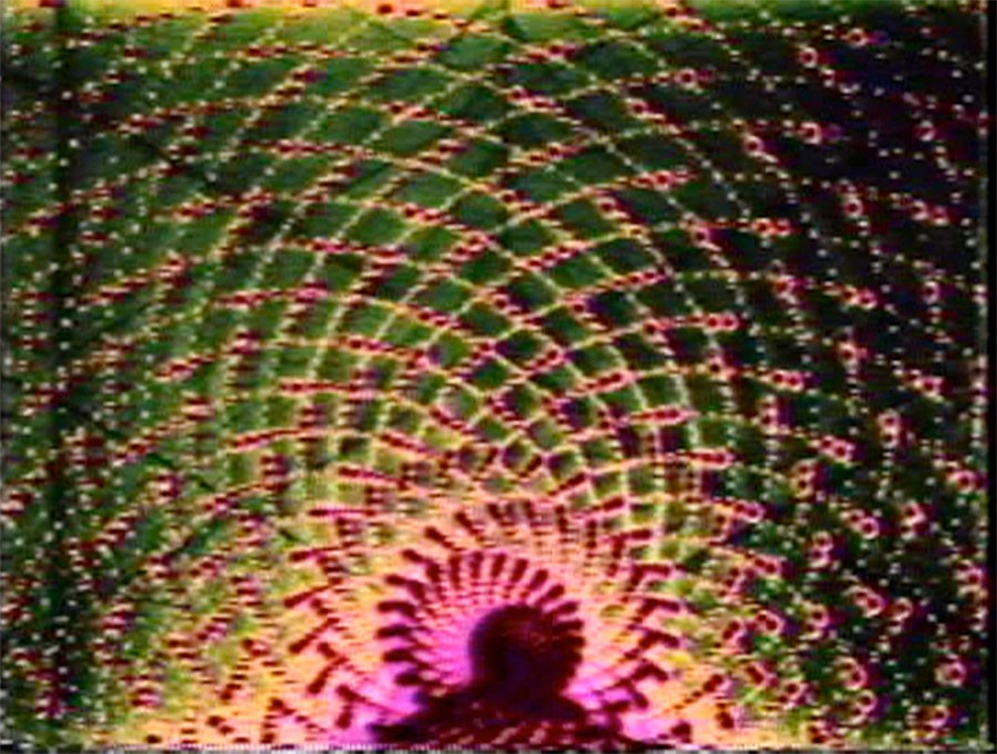 Spiral 5 PTL, Dan Sandin, Tom DeFanti, and Mimi Shevitz, video, 1979. - COURTESY OF DAN SANDIN AND VGA GALLERY