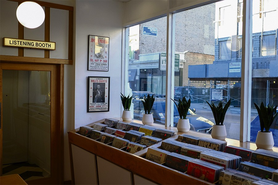 The small record store that fronts Dorian's has an even smaller listening booth that doubles as the entrance to the bar and restaurant. It's also the only room with windows. - PINAR ISTEK