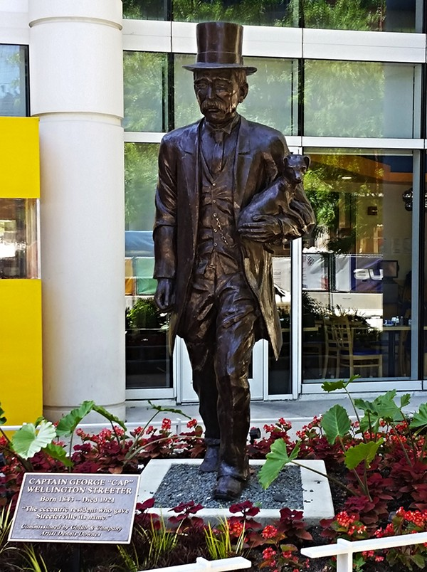 A statue of George Streeter. - CHICAGO CRIME SCENES