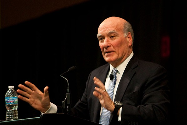 Mayoral candidate Bill Daley, who's called for a referendum slashing the number of alderman in the City Council from 50 to 15 - JAMES C. SVEHLA