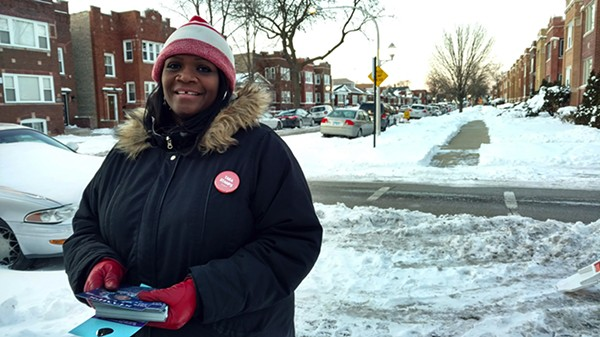 CPS teacher Tara Stamps came within 600 votes of beating Emma Mitts in 2015. This year she's on the ballot again but she faces a tough battle as Mitts has garnered much of the union support that had previously gone to Stamps. - MAYA DUKMASOVA