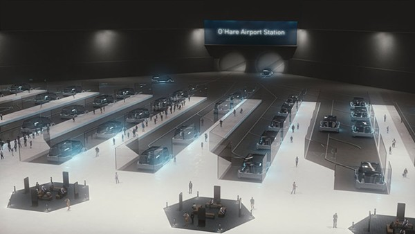 Proposed O'Hare Airport station - THE BORING COMPANY