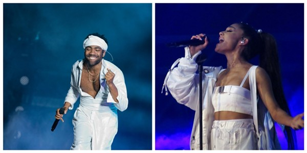 This year's Lollapalooza headliners include Childish Gambino and Ariana Grande. - PHOTOS BY DESHAUN CRADDOCK AND FLICKR USER EMMA